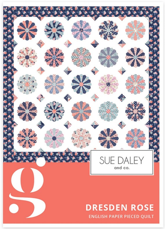Lattice Rose  English Paper Piecing Quilt kit by Sue Daley Designs EPP
