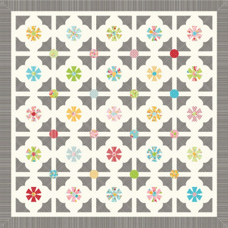 Sue Daley Designs Clamshell Template Patchwork with Busyfingers EPP English Paper Piecing 3 inch