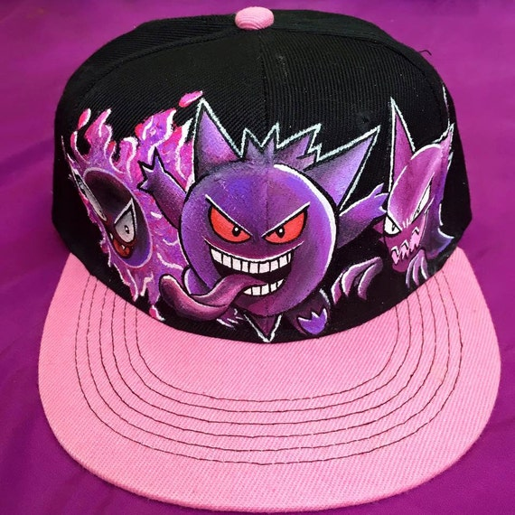 Pokemon gift Pokemon snapback pokemon hat Gengar gastly  d52ed7c8126