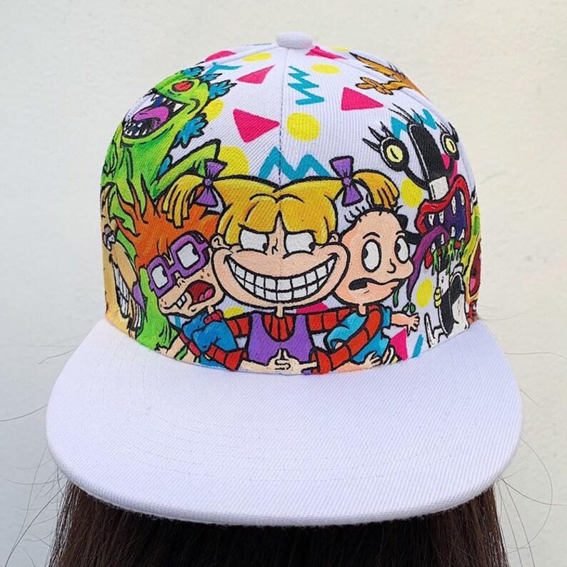 the best attitude 6da10 db26e Nickelodeon Custom hand Painted snapback hat Rocko s   Etsy