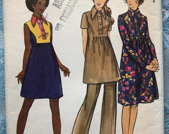a826a34f44117 Maternity High-Fitted Dress or Tunic and Pants in Size 16 Vintage Butterick  Sewing Pattern 6519