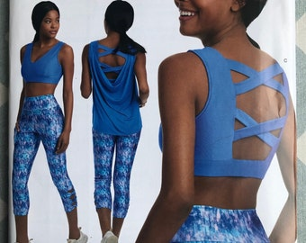 Simplicity D0873 8560 Sewing Pattern Misses Knit Sports Bra 30A-44G