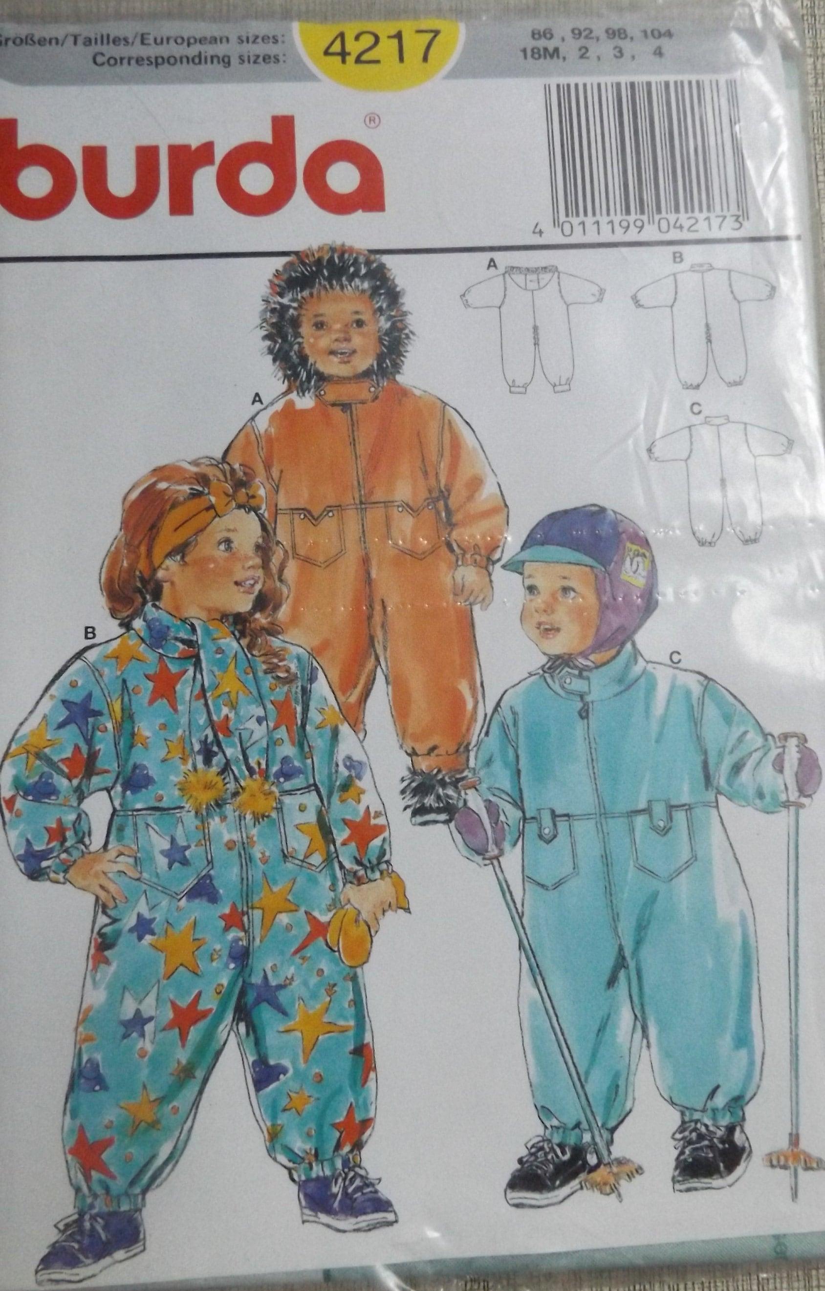 5e236b73f130 Toddler Snowsuit in Size 18 Month to 4 Uncut FF Vintage burda