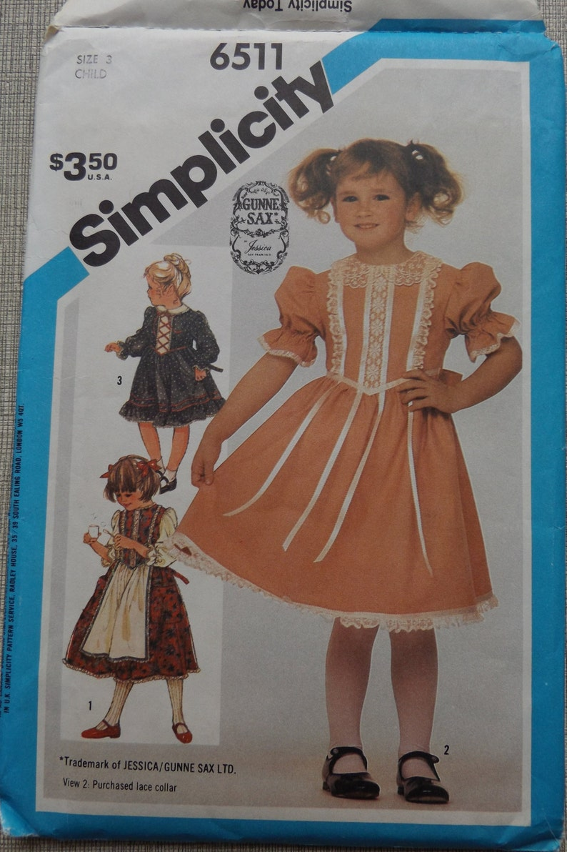 18e1dc98e1c2 Gunne Sax Design Child s Fitted Bodice Dress with Patch