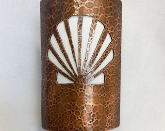 Handmade Copper Night Light - Shell - Home Decor - Lighting - 7th Anniversary Gift