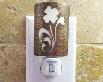 Handmade Copper Night Light - Home Decor - Lighting - 7th Anniversary Gift