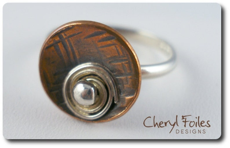 Sterling Silver and Copper Ring image 0