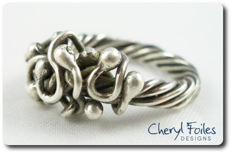 Sterling Silver Free Form Ring image 0