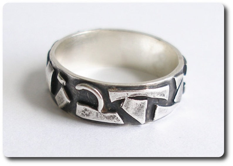 Sterling Silver Mosaic Ring image 0
