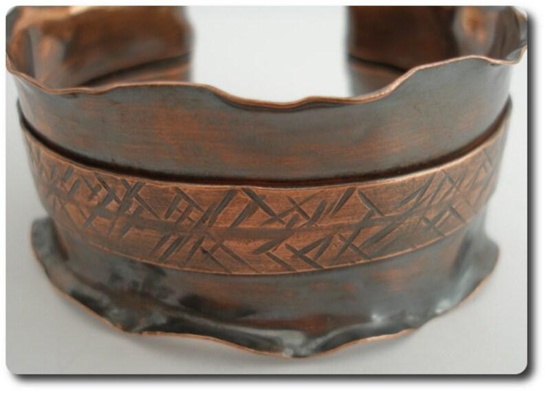 Ruffled Copper Cuff Bracelet image 0