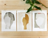 Abstract Images, Gallery Wall Art, Set of 3 prints in various sizes, Modern Wall Decor Set, Home Decor Gift