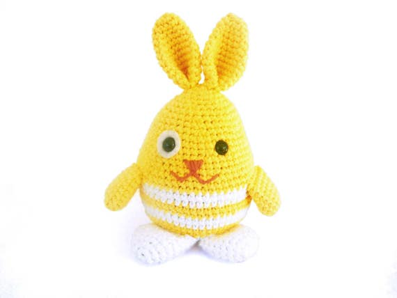 Easter Bunny Crochet Pattern Easy Amigurumi Pattern For Etsy