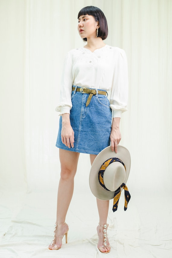 Skirt | Pencil denim | Vintage 1980s