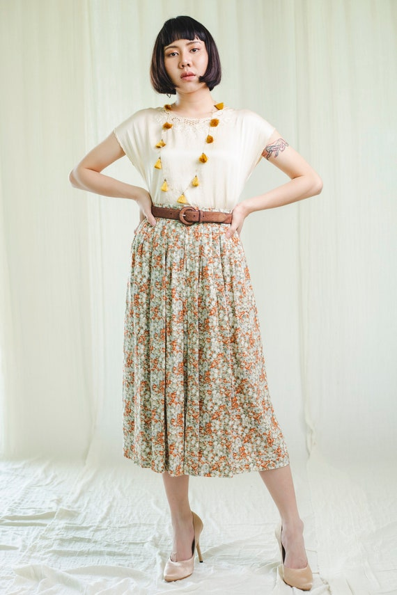 Vintage blouse | Silk blouse with broderie anglais