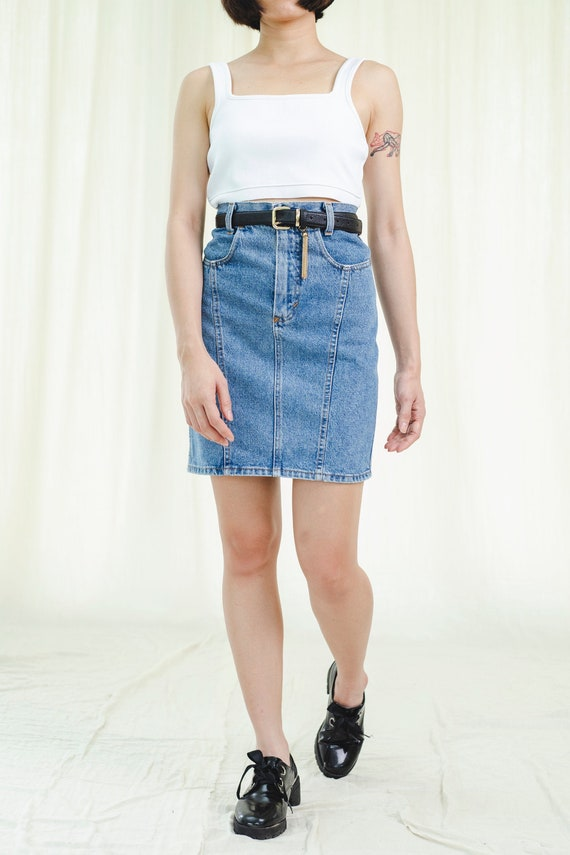 Skirt | High rise short | Vintage denim 1980s