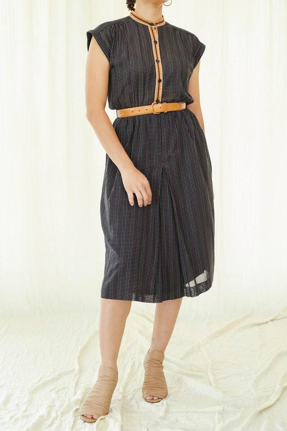 Colorful polka dots cotton vintage dress