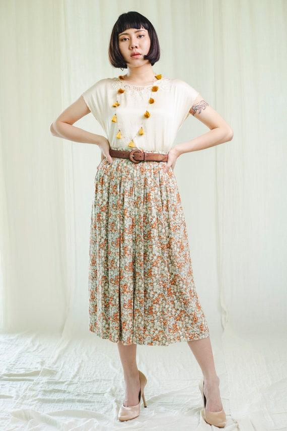 Vintage skirt | Upcycled skirt | 80s skirt | Flora