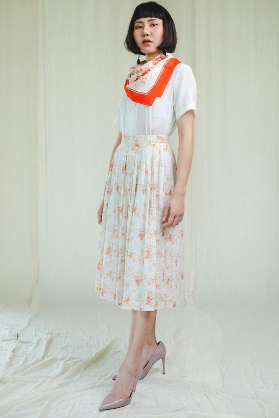 Skirt l vintage 80's cotton skirt