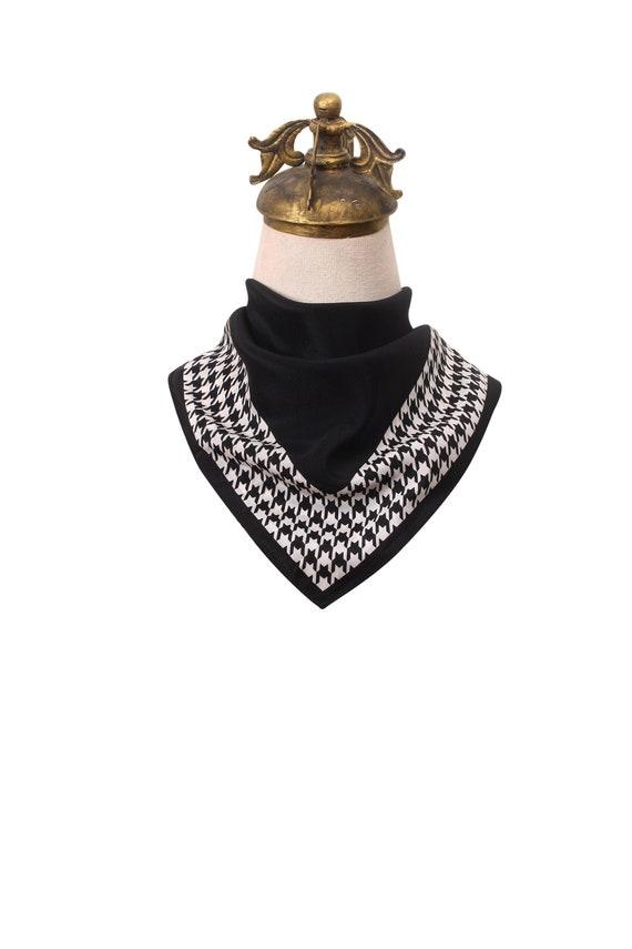Vintage silk scarf | Black silk scarf | 80s silk s