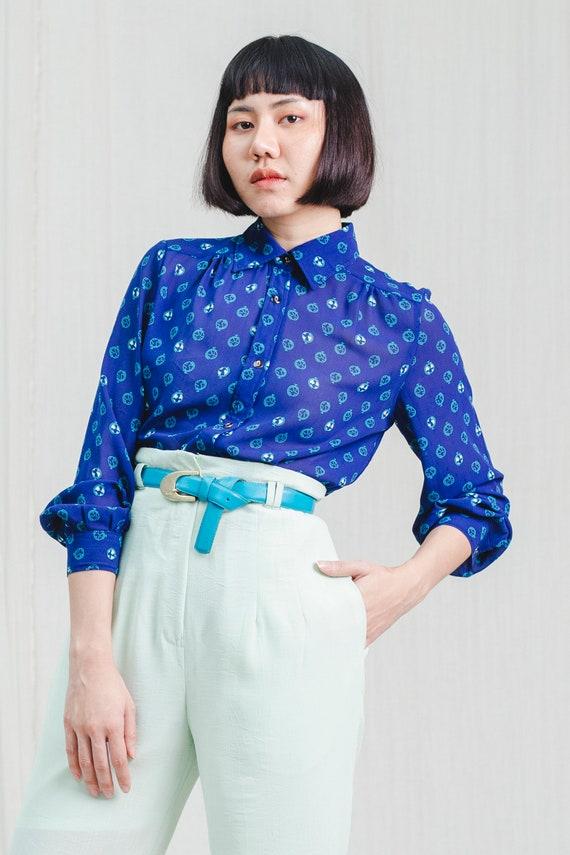 Pretty vintage chiffon blouse