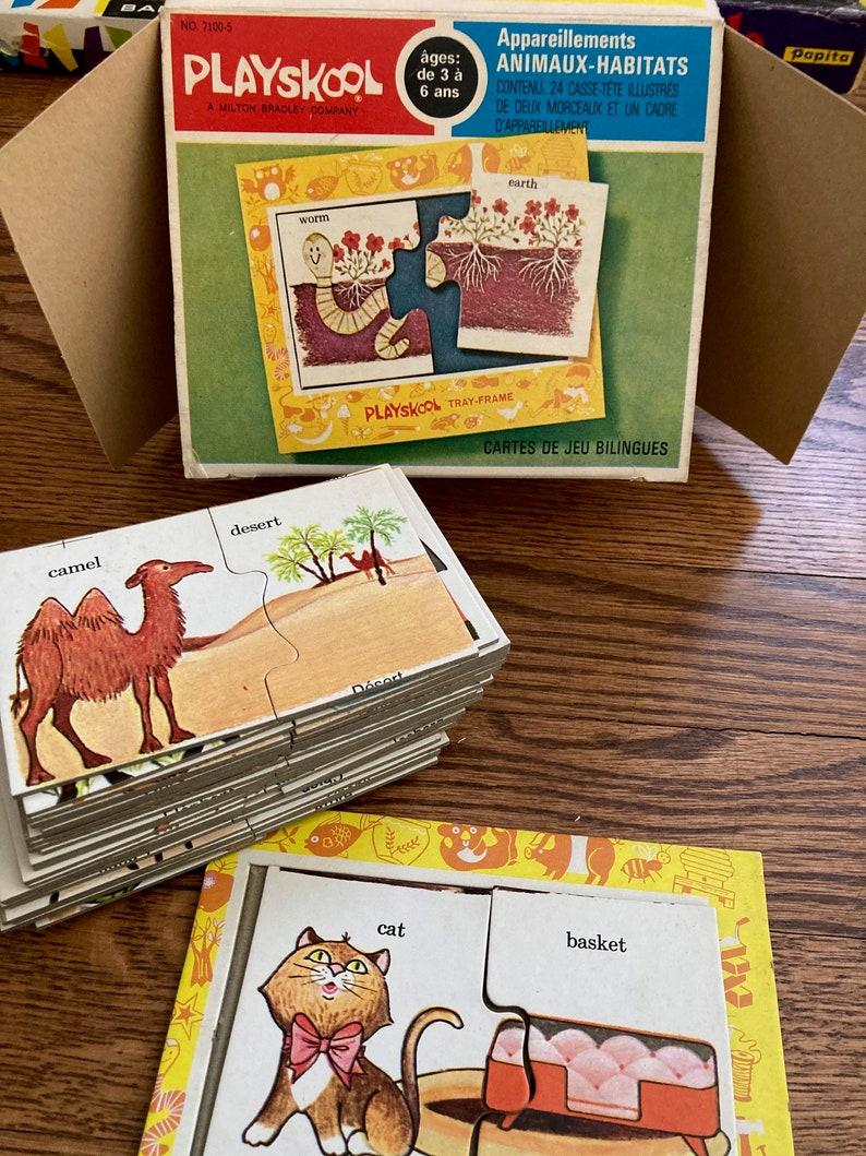 Vintage PLAYSKOOL MAtch Ups 24 Cards Animals Age 3-6