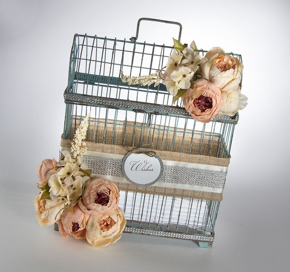 Card Holder - Wedding Decor - Rustic Wedding - Vintage Wedding - Garden Wedding - Wedding Card Holder - Birdcage Card Holder