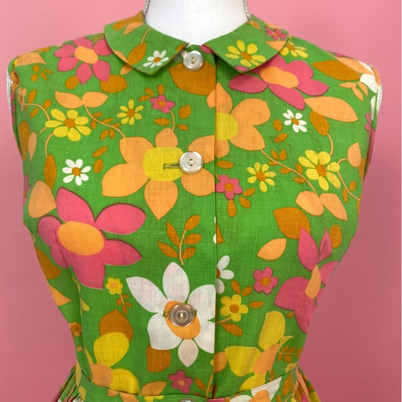 1960s Mod Flower Power Playsuit Set with Matching