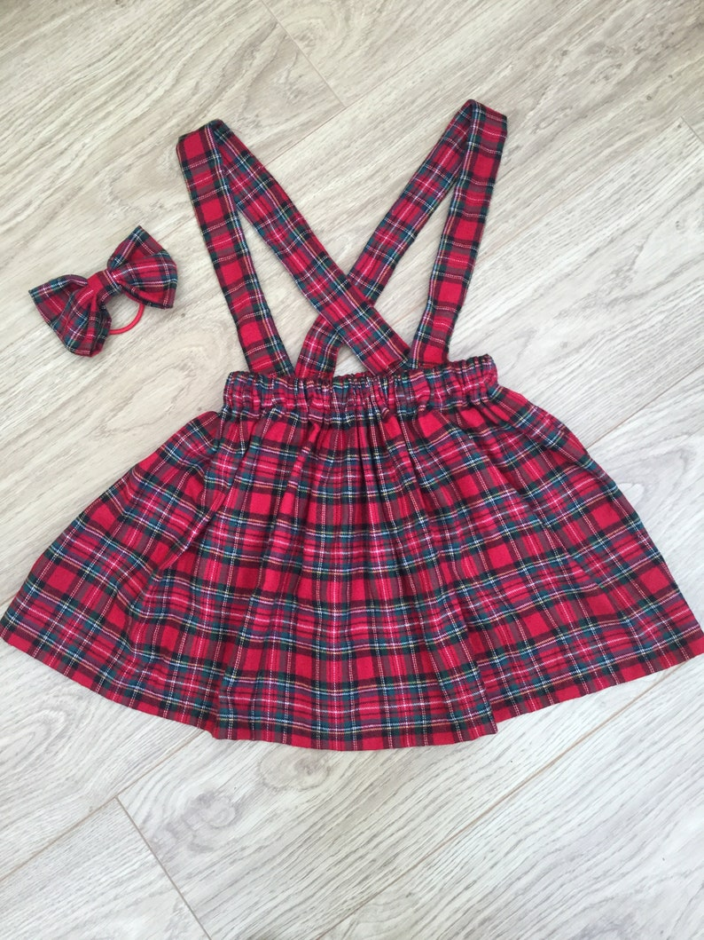 9251cf7ad5 Royal Stewart Modern Stewart girls skirt braces bow outfit