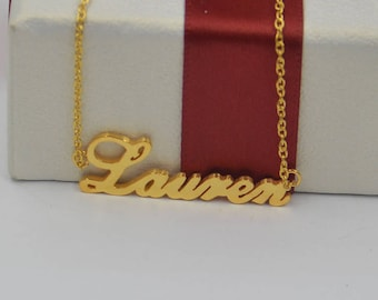 Name plate necklace-Gold name necklace-name jewelry-custom any name-bridesmaids gift,Personalized gift for bestfriend,lover