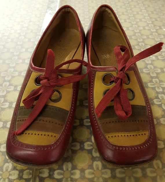 Vintage 60's EYELET MOD SHOES retro sixties luvi s