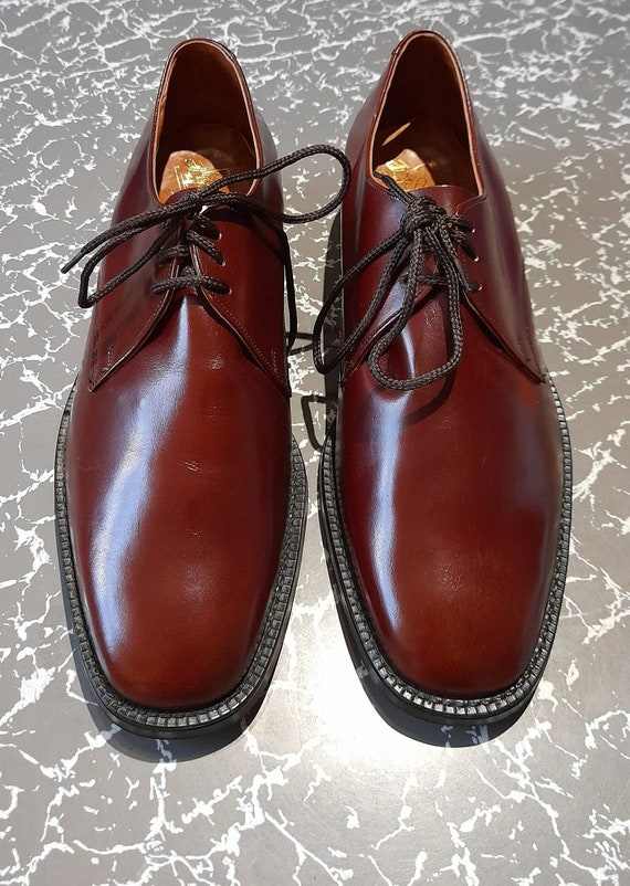 70s calibre augergine OXBLOOD GIBSON SHOES in box