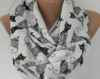 Cat Scarf Gift For Cat Lover Cat Print Infinity Scarf Cat Lover Gift Women Accessories Gift For Her Gift For Cat Mom Gift For Women Pet Gift