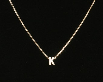 Initial Necklace In Gold/Siver/Rose Gold, Monogram Necklace,  Letter A to Z Pendant, Personalization, Wedding, Fast Shipping