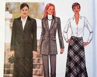 Butterick 3579 Pattern Misses Jacket Skirt Pants 6 - 10 UNCUT 2002