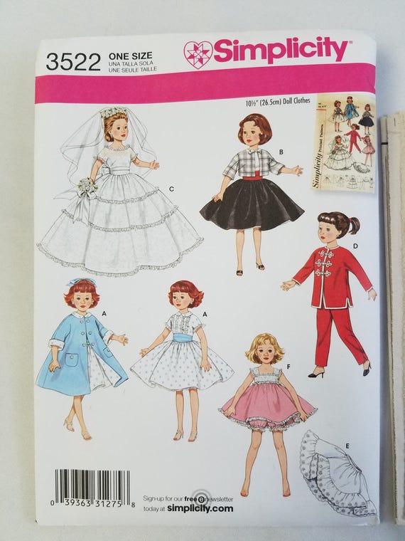 Simplicity 2454 - Patrón de costura para ropa de muñecas /(para ...