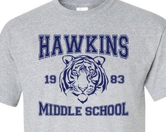 Stranger Things Shirt Hawkins Middle School Av Club Sizes Etsy
