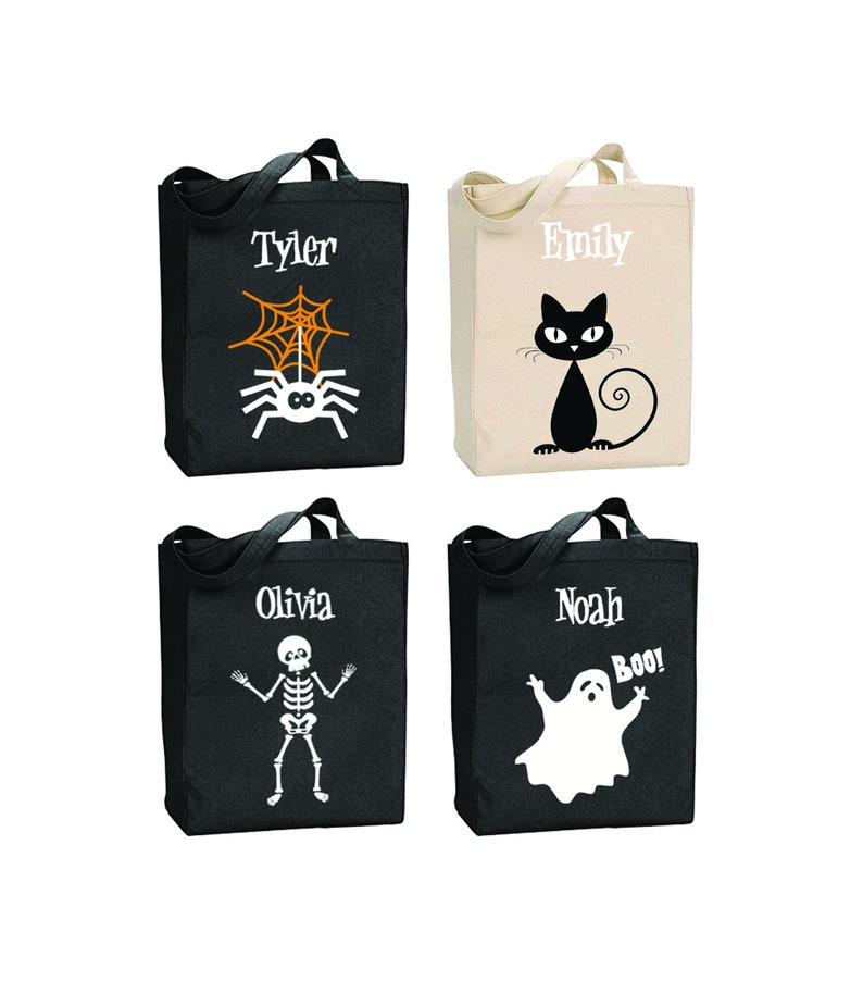 Halloween Trick Or Treat Bags Personalized.Personalized Halloween Trick Or Treat Bags Glow In The Dark Totes Halloween Candy Bags Trick Or Treat Bags Personalized Halloween Bags