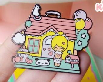 Chic Kawaii Dollhouse enamel pin.