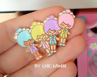 Pins chic kawaii similar polly pocket style enamel pin lot