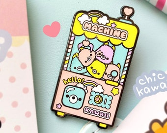 Lovely enamel pin Chic Kawaii toy llama alpaca grabber machine