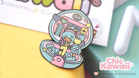 Chic kawaii polly pocket style pin chic kawaii original design character.