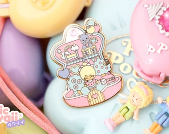 Enamel pin polly pocket style chic kawaii magic pastel kawaii cute pins