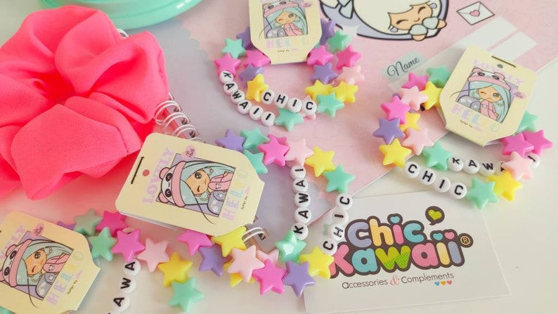 Chic kawaii pastel beads bracelet