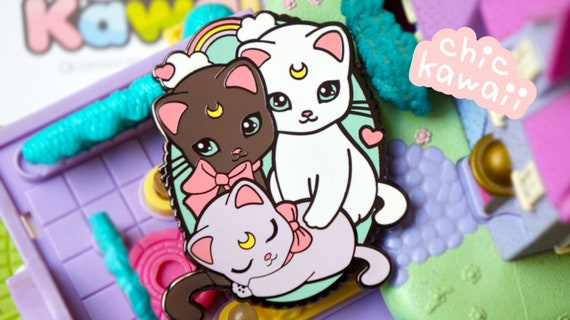 Enamel Pin Sailor Moon Style Cats Seconds Pin Beautiful But Not 100 Perfect