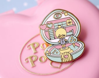 Enamel pin polly pocket style chic kawaii magic pastel kawaii cute pins heart