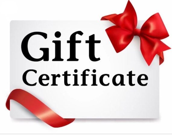 Holiday Gift Certificate Fifty Dollars For Naked Planet Jewelry Gift Card Anonymous Gift Surprise Gift