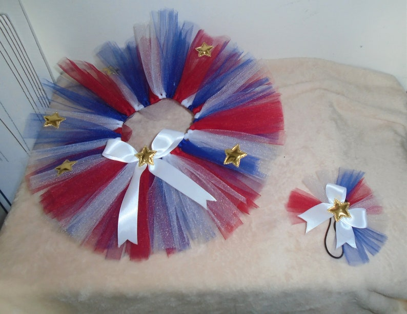 0dde69b40f21 Kids 4th of July Stars   Stripes Holiday Tutu with Hair Bow