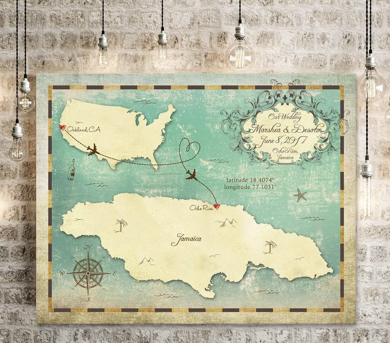 Map Australia 4074.Wedding Guest Book Map Wedding Guest Book Alternative Etsy