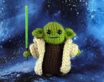 Yoda inspired crochet character for Star Wars fans!