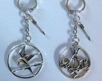 Hunger games inspired  mockingjay divergent/Percy Jackson/ Harry Potter etc keyring/bag charm